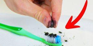 carvão aditivado para clarear os dentes
