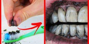 formas de usar carvao ativado para clarear os dentes