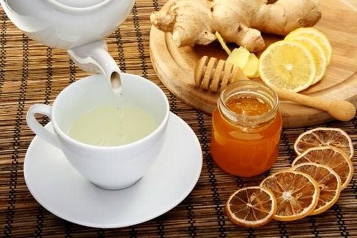 chá mate com mel