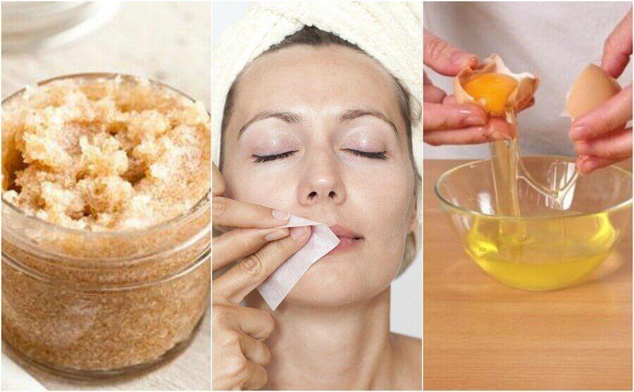 receitas caseiras para remover pelos do rosto