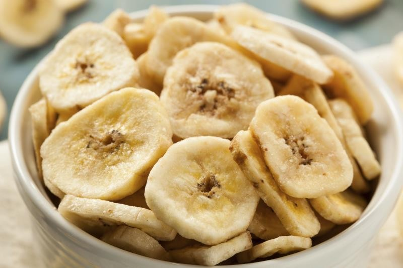 os chips de banana são ricos em fibras