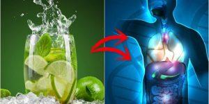 beneficios de beber agua com limao