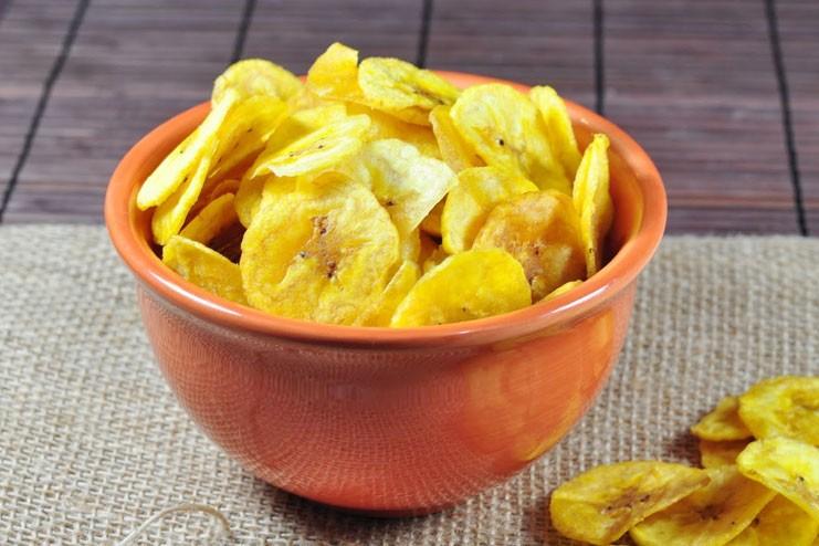 os chips de banana são bons para a pele