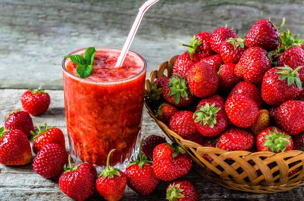 beneficios do suco de morango