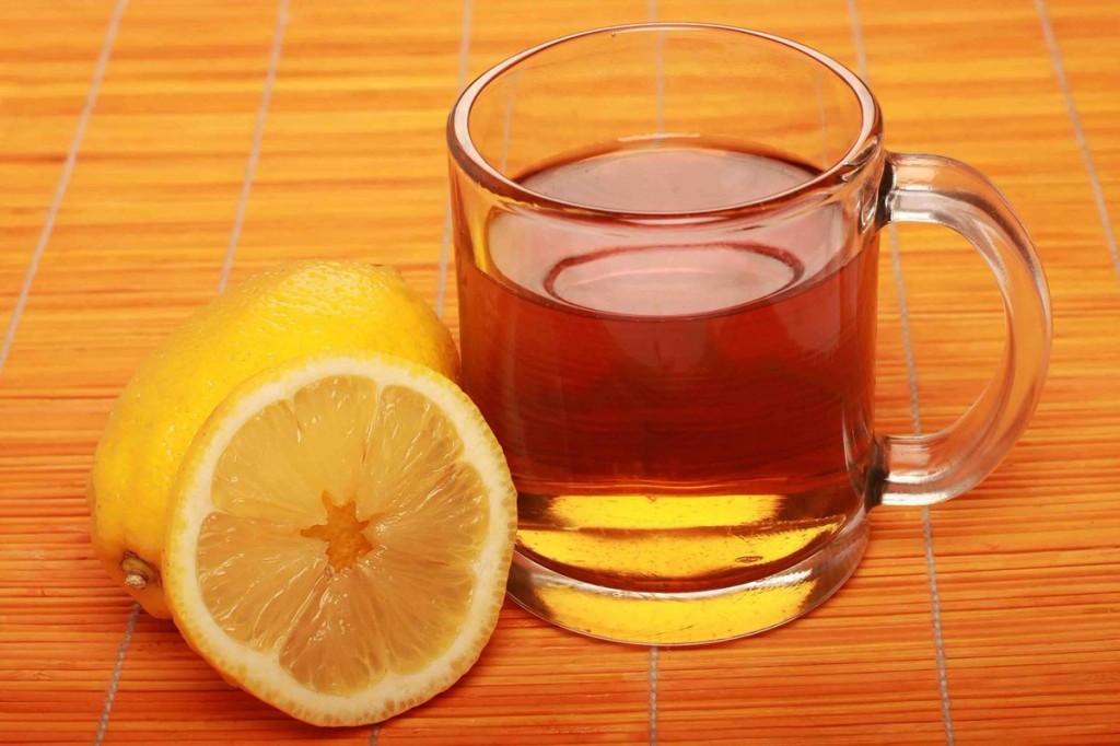 chá da casca de limão para o corpo
