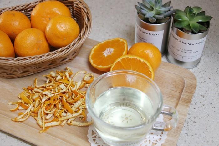 cha de casca de laranja