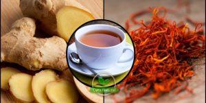 quais os benefícios do chá de gengibre e açafrão?
