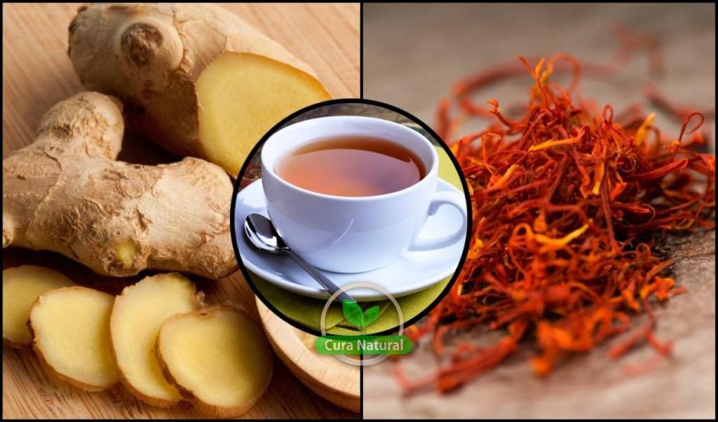 Os 10 Benefícios do Chá de Gengibre e Açafrão Para Saúde