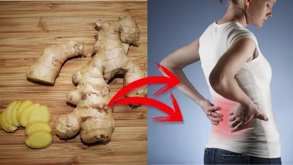 gengibre para aliviar dor nas costas
