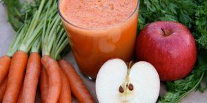 quais os benefícios do suco de cenoura com maçã?