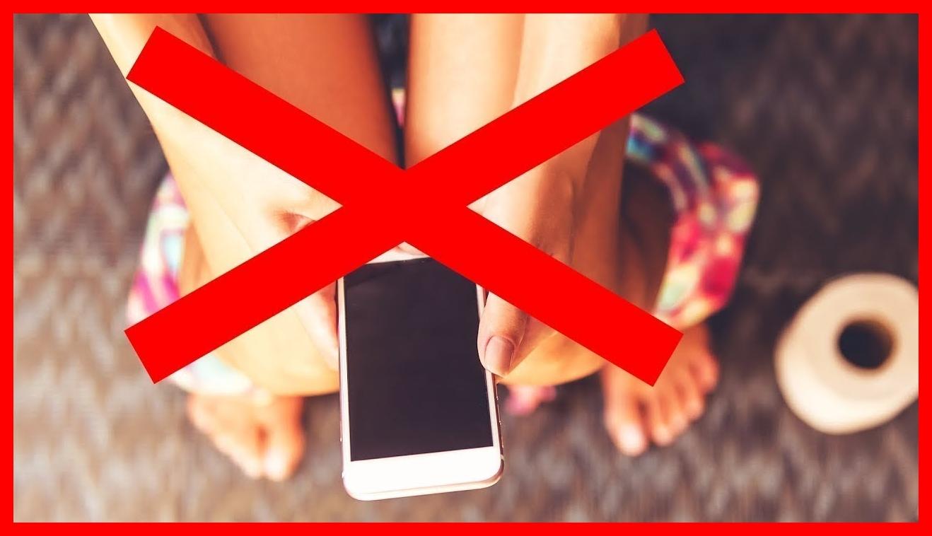 usar celular no banheiro