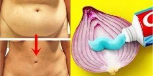 cebola com bicarbonato para secar gordura da barriga