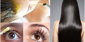 receita caseira para crescer o cabelo, sobrancelhas e cílios