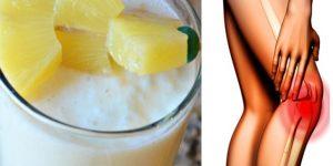 smoothie de abacaxi para curar dores do joelho