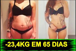 Mulher Emagrece 23,4kg e REVELOU o seu segredo...