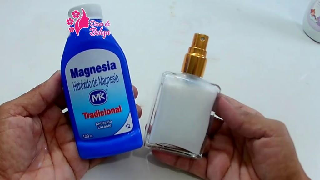 desodorante caseiro com leite de magnesia